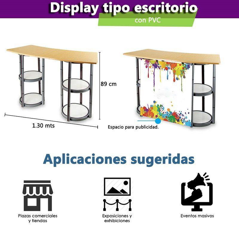 Caracteristicas exhibidor tipo escritorio