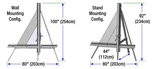 Dimensiones del cortador vertical manual flecher fsc con stand