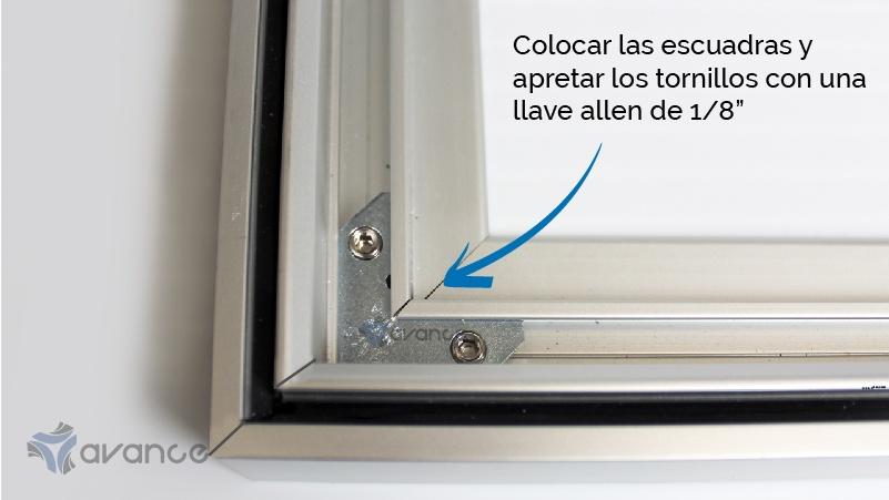 marco de aluminio para tela